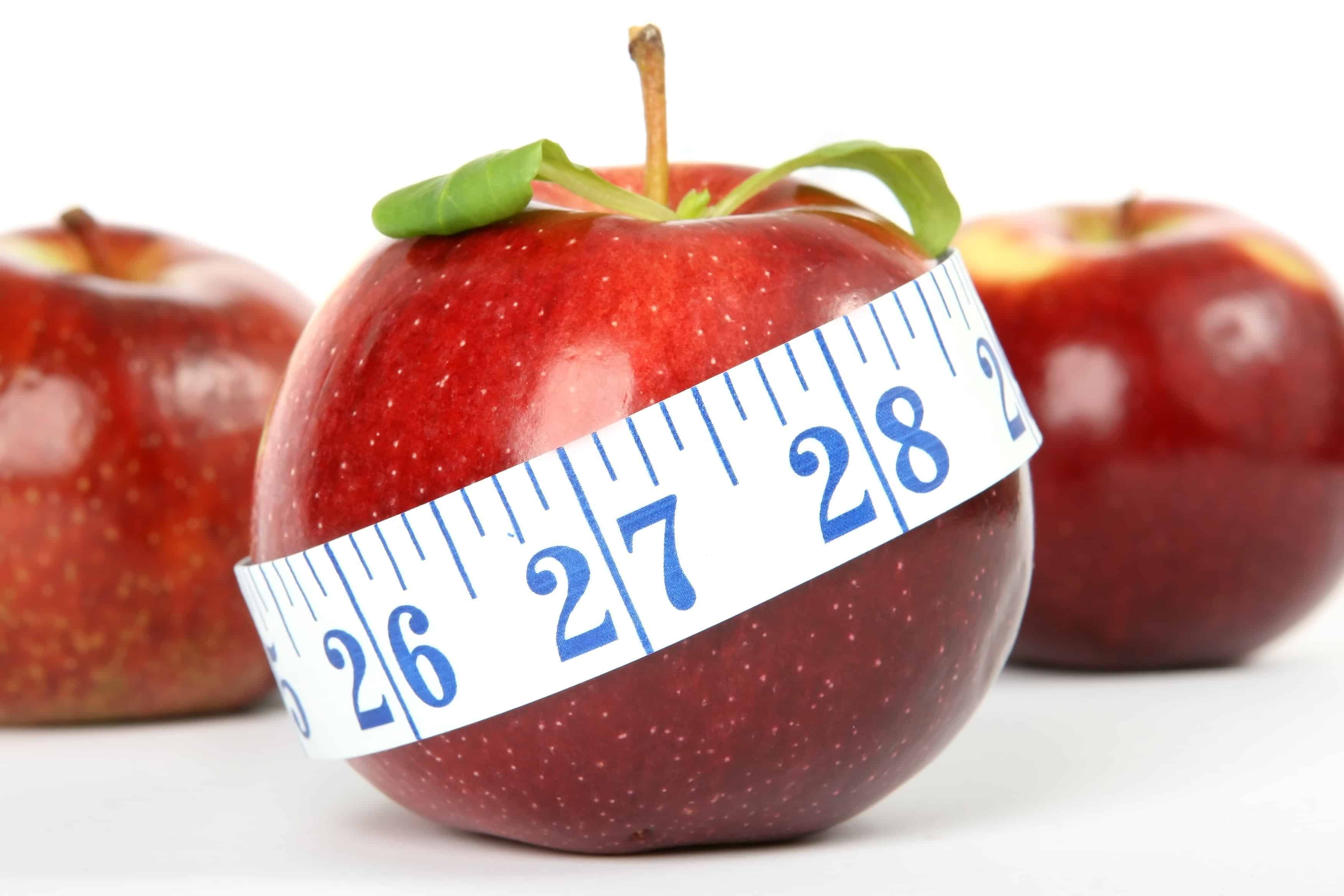 Apples - apple with tape measurer