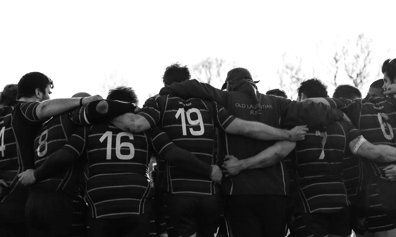 Halftime huddle image