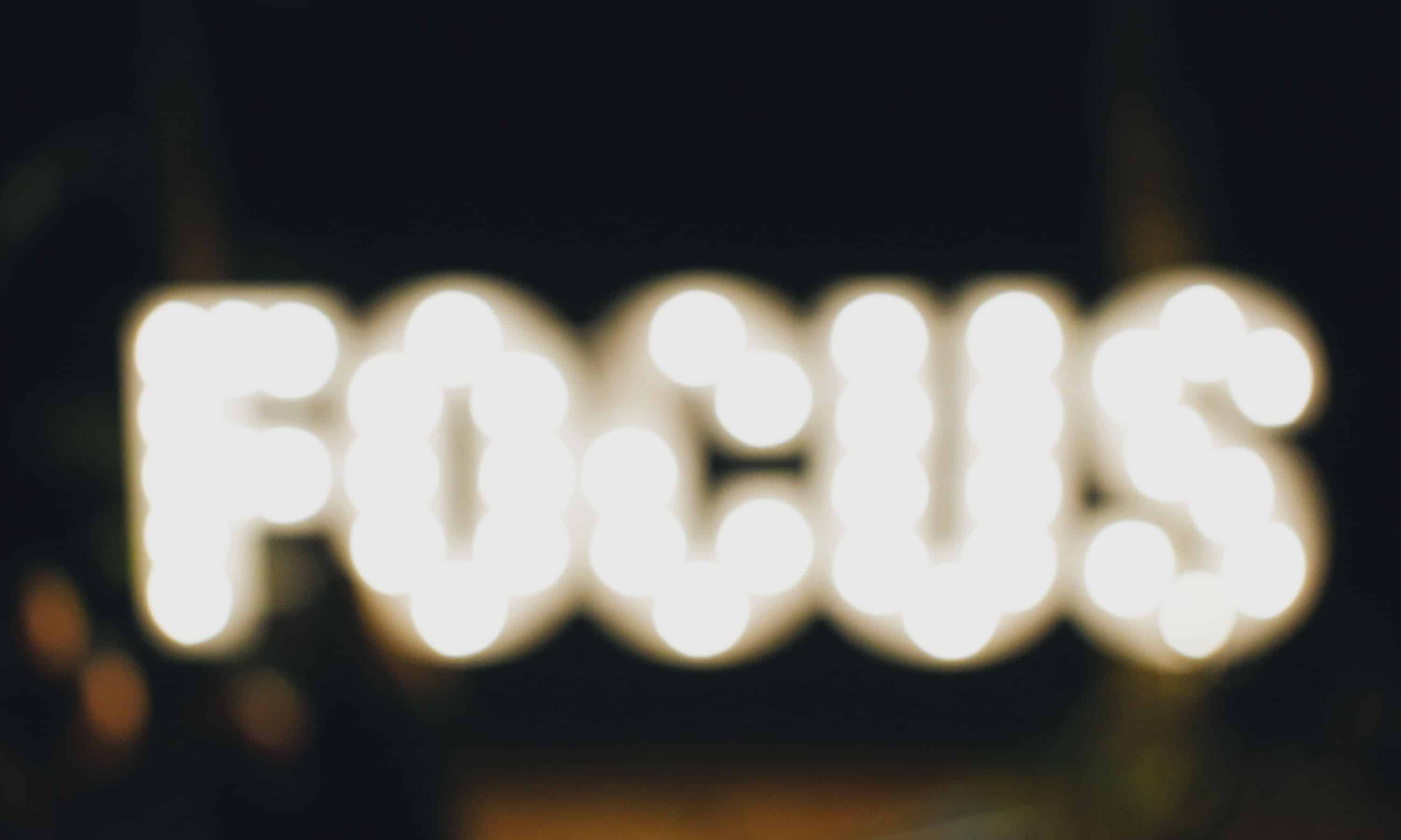 Focus Text in lights