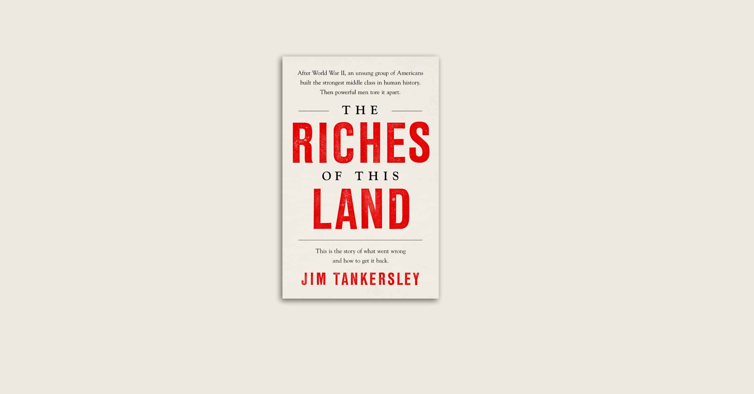 The Riches of this Land - Book cover