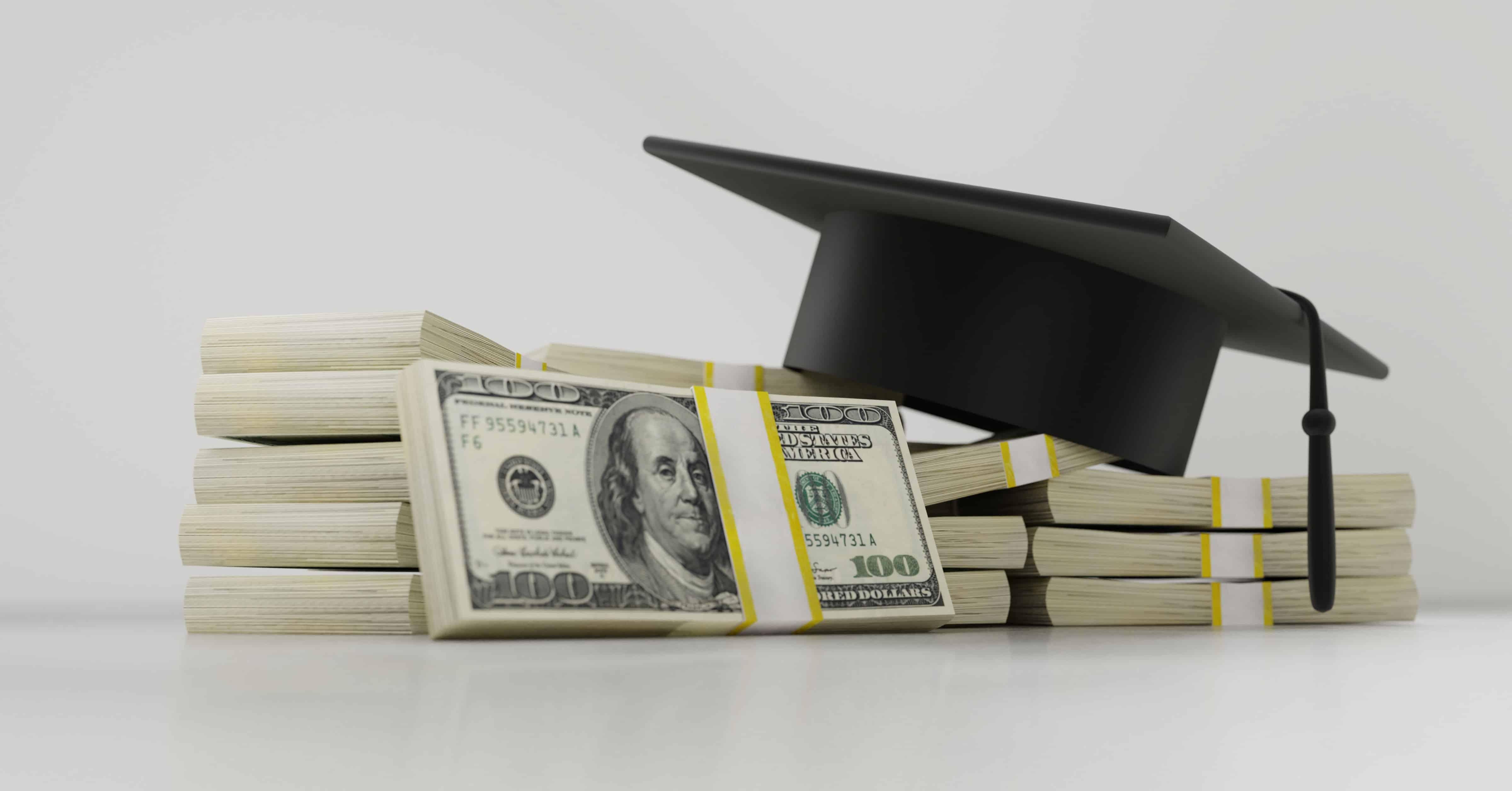 money with graduate cap